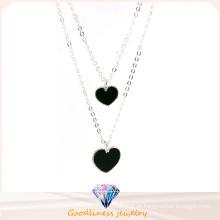 Boa qualidade e em forma de coração pingente colar de prata 925 (n6766)