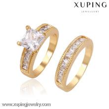 Anillo de oro de la venta al por mayor de 13507 Xuping 18K, anillo de dedo de la CZ de la joyería más nueva del diseño