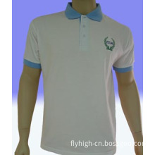 Blue Collar White Golf Shirt