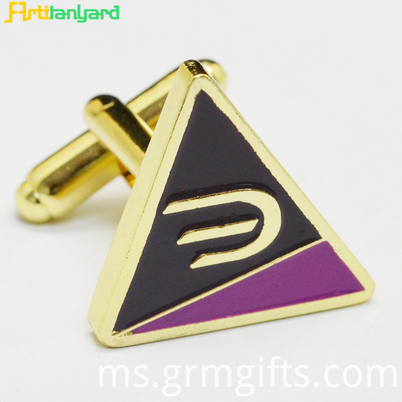 Cufflink With Synthetic Enamel