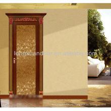 Aluminio Puerta abatible con vidrio y diseño moderno, puerta de aluminio interior de vidrio