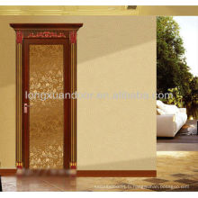 Porte battante en aluminium avec verre et design moderne, porte intérieure en verre en aluminium
