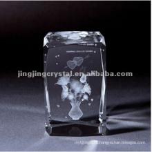 Кристалл кромки фаской кубики для внутреннего лазера или гравировки с высоким качеством