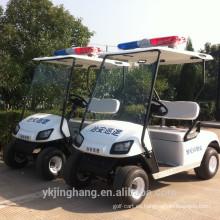 mini carros de golf eléctricos de la policía para la comunidad