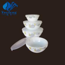 Conjunto de tigela empilhável produtos vidreiros-4PCS Opal resistente ao calor