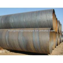Tubo de aço carbono soldado espiral para linha de gás e óleo