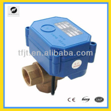 "CWX-60P three way T Flow Brass DC24V 3/4"" electric motor operated valve"
