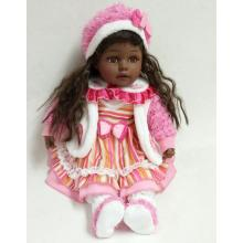 12 Inches Black Hair Skin Vinyl Doll