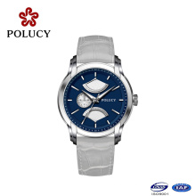 Wholesale High Quality Zinc Alloy Men Genuine Leather Quartz Watch