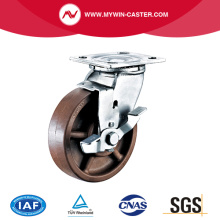 Plate High Temperature Caster with Brake