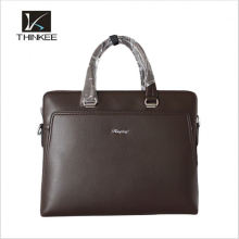 Classic Woven Pattern Leather Men Laptop Bag Leather Executive Bag