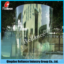 10mm Curved Tempered Glass for Bathroom