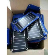 Paquete plegable del bolso del cargador del libro eléctrico del iPad del teléfono móvil solar de 5W 6W con la certificación de TUV