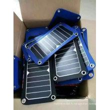 Paquet pliable de sac de chargeur de livre électrique solaire d'iPad de téléphone portable de 5W 6W avec la certification de TUV