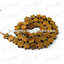 Tigereye star shaped Beads