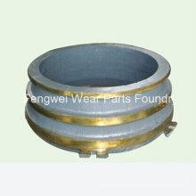 Broyeur à cône en manganèse de haute qualité Fixed Concave Bowl Liner