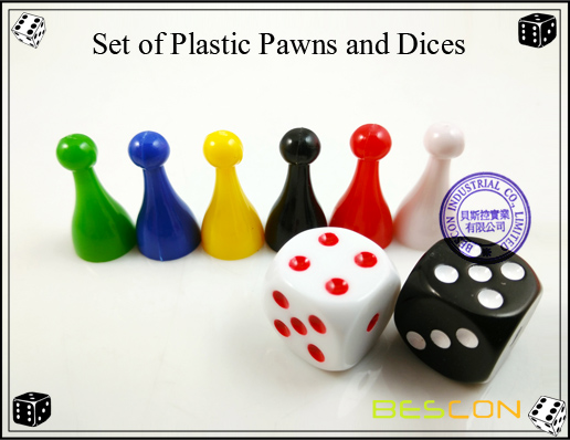 Set of Plastic Pawns and Dices