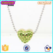 Funkelnde Kristall Liebe Herz Anhänger Halskette # Scn004