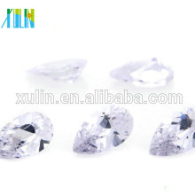 Piedras sueltas al por mayor del agujero de la pera de la alta calidad zirconia cz cúbica