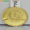 Custom Zinc Alloy Metal Medal With Ribbon