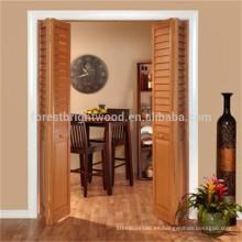 Precio de puertas plegable económico madera maciza de diseño moderno