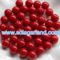 8/10/12/14/16/18/20 MM Acrylic Opaque Color Loose Round Beads Charms