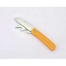 Cuchillo de fruta plegable de acero inoxidable multifunción