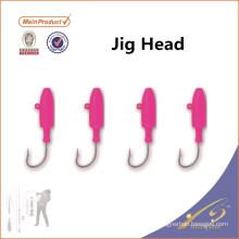 JHL024 Heißer Verkauf Jigkopf Form Bucktail Jigkopf