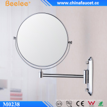Brass 8 Inch Cosmetic Two Way Wall Mirror