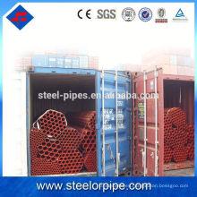 Sección hueca Tubería galvanizada y tubería de acero en stock