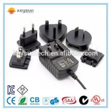 Transformator 230V bis 12V 1.5A Austauschbares Netzteil mit US UK AU EU Stecker