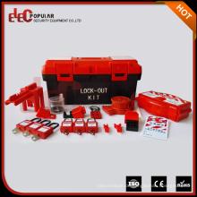 Elecpopular China Lieferant Ce Kunststoff Material Kleine tragbare Kombination Lockout Box