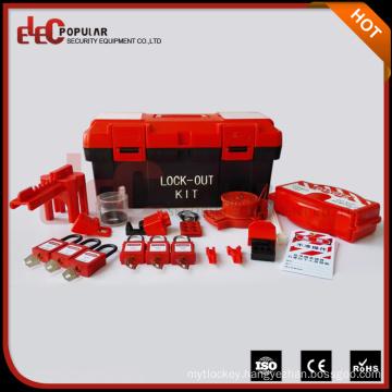 Elecpopular China Supplier CE Plastic Material Small Portable Combination Lockout Box