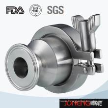 Vanne de retenue hygiénique tri-clippée en acier inoxydable (JN-NRV1002)