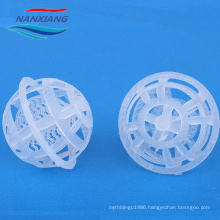 50mm Plastic pp cage ball with Large Surface Area for water treatment/ Polypropylene Plastic hollow Ball
