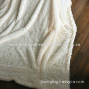 High quality fake fur blanket, OEM orders are welcome