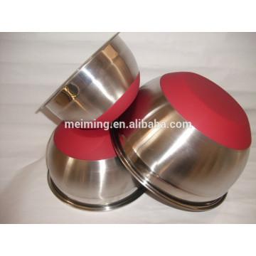 Tazón de fuente de ensalada antideslizante con la parte inferior del silicón, tazón de fuente de mezcla