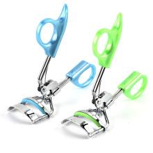 Belleza de acero inoxidable de moda Mini clip de rizador de pestañas de color portátil Herramienta de accesorios de pestañas
