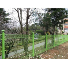 Cerca de alambre del PVC, puerta de la cerca
