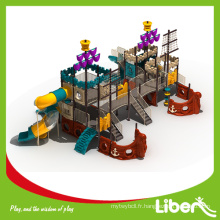 Pirate Ship Theme Large Commercial Kids Outdoor Playground pour parc d'attractions