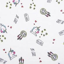 Impresión textil tejida blanca de Challis 100% tela de rayón