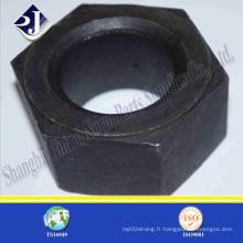 Noix hexagonale noire pour champ de pétrole