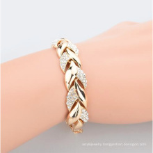 Golden leaf bracelet, diamond, fashion noble jewelry, pendant, jewelry