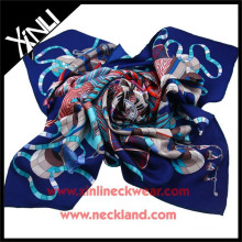 China Printing Factory Wholesale Print Silk Scarf