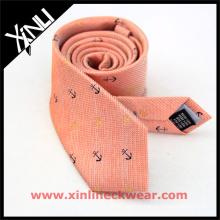 Стильный мужской галстук с якоря и колеса полосатый шелк шерсть галстук