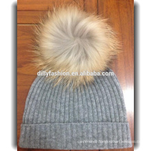 cable knitted cashmere cap wholesale cashmere beanie hats with pom