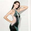 Wholesale pdded cups back zipper prom floor touching evening dress 2017