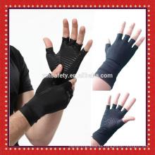 Guantes de compresión de artritis de mano de cobre de medio dedo Guantes de artritis