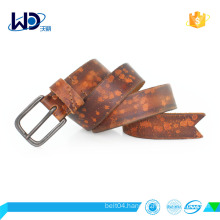 soft cowhide leather belt with pin buckle