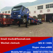 8 x 4 Sinotruk HOWO hydraulique auto chargement camion lit bas